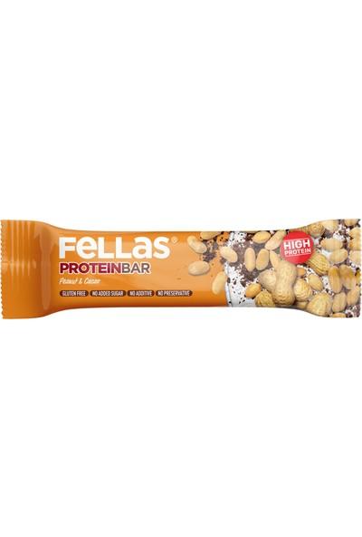 Fellas Yüksek Protein Bar - Yer Fıstığı ve Kakaolu 45 gr x 12 Adet