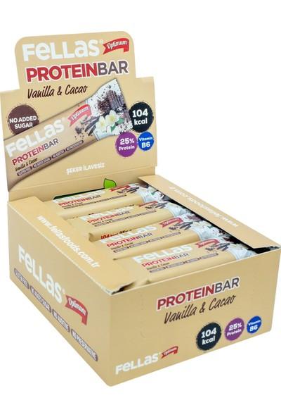 Fellas Protein Bar - Vanilya ve Kakaolu 32 gr x 12 Adet