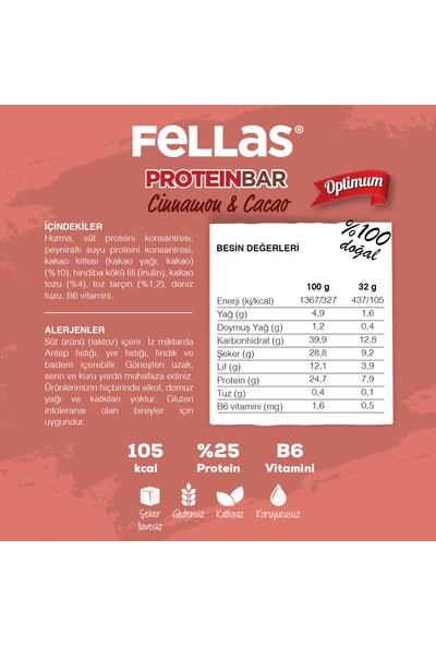 Fellas Protein Bar - Tarçın ve Kakaolu 32 gr x 12 Adet
