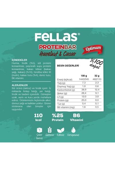 Fellas Protein Bar - Fındık ve Kakaolu 32 gr x 12 Adet