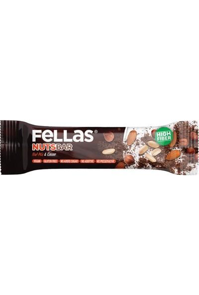 Fellas Nuts Bar Karışık Kuruyemiş ve Kakao 40gr