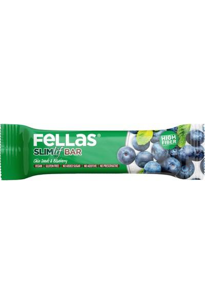Fellas Meyve Bar - Chia ve Yaban Mersini 40 gr x 12 Adet