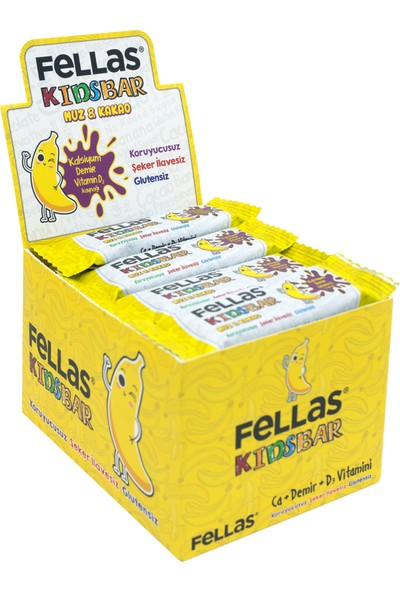 Fellas Kids Meyve Bar - Muz ve Kakaolu x 12 Adet