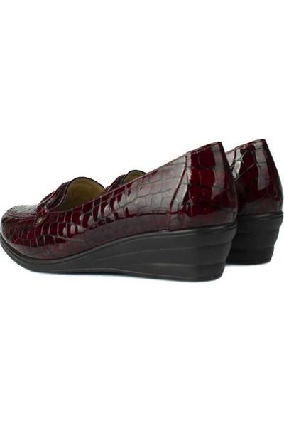 Erkan Kaban 4422 625 Kadın Bordo Günlük Ayakkabı