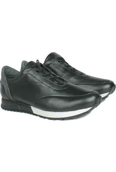 Erkan Kaban 914510 014 Erkek Siyah Deri Spor Ayakkabı
