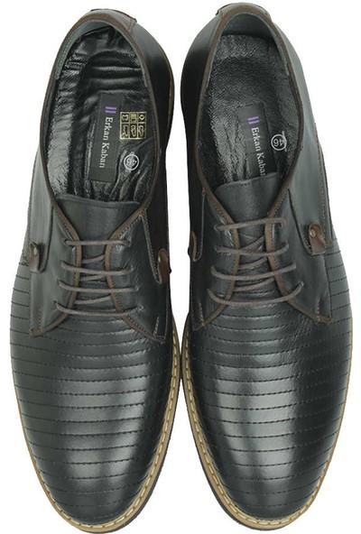 Erkan Kaban 914503 014 Erkek Siyah Deri Klasik Ayakkabı