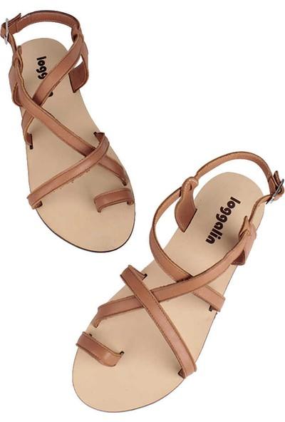 Loggalin 906079 167 Kadın Taba Deri Sandalet