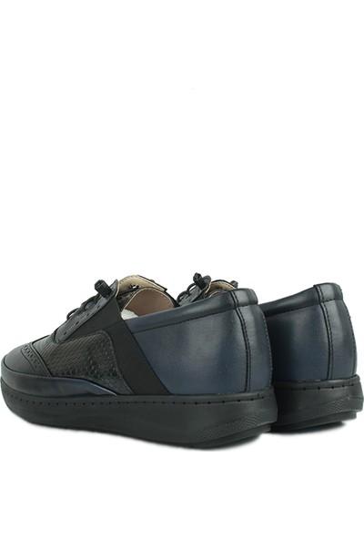 Erkan Kaban 155028 405 Kadın Siyah Lacivert Günlük Ayakkabı