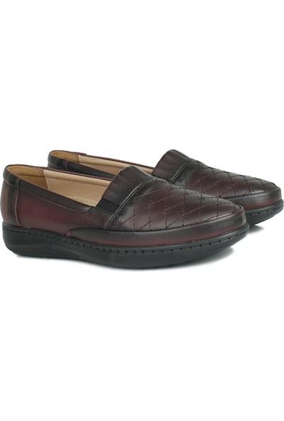 Erkan Kaban 155008 624 Kadın Bordo Günlük Ayakkabı