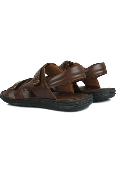 Kalahari 850186 232 Erkek Kahve Deri Sandalet