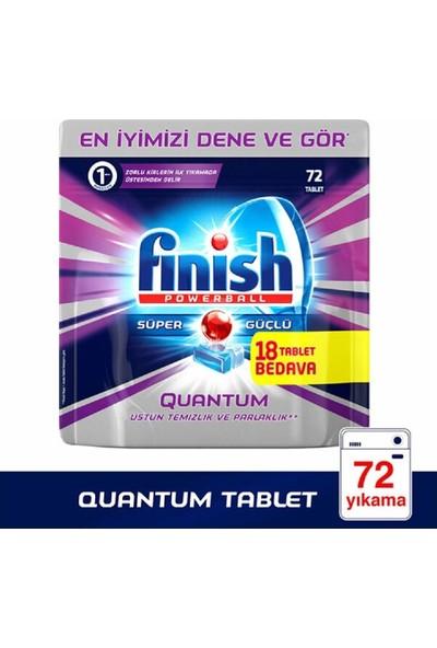 Finish Quantum 72 Yıkama Bulaşık Tableti 4'lü Set