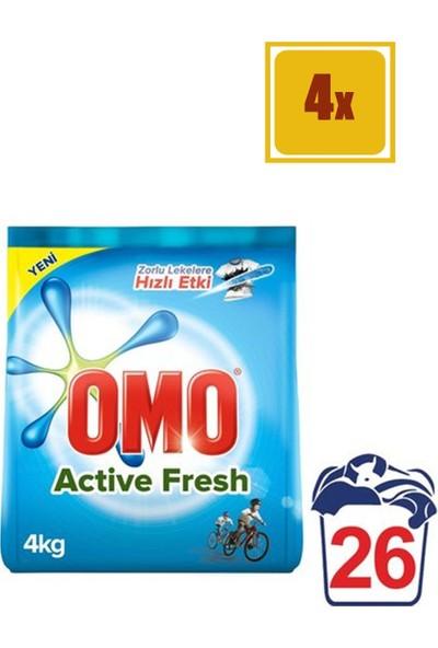 Omo Matik Active 4 kg Toz Çamaşır Deterjanı 4'lü Set