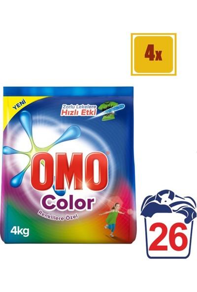Omo Matik Color 4 kg Toz Çamaşır Deterjanı 4'lü Set