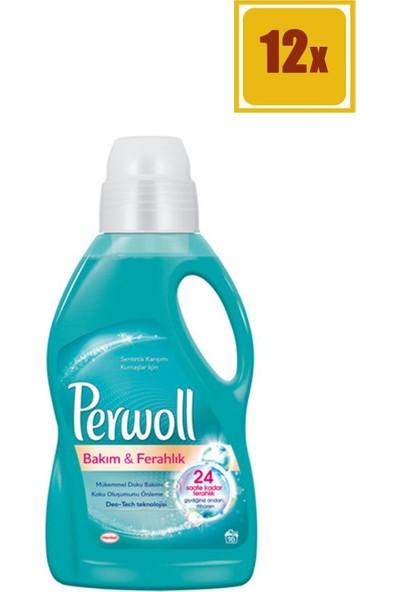 Perwoll 1 Lt Bakım Ferahlığı Sıvı Çamaşaır Deterjanı 12'li Set