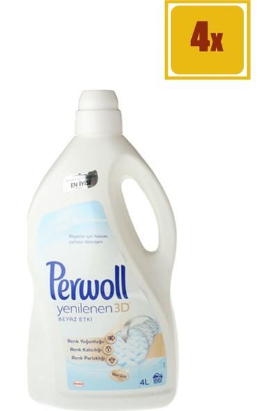 Perwoll 4 Lt Beyaz Sıvı Çamaşır Deterjanı 4'lü Set
