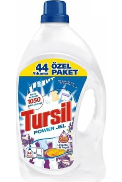 Tursil Jel Sıvı Çamaşır Deterjanı Lavanta & Pançuli 44 Yıkama 3,08 Lt 4'lü Set