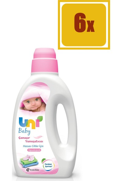 Uni Baby Çamaşır Deterjanı Hassas 1500 ml 6'lı Set