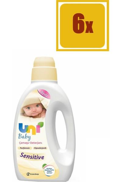Uni Baby Sensitive Çamaşır Deterjanı 1500 ml 6'lı Set