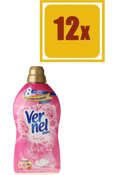 Vernel Max Taze Gül Yumuşatıcı 1440 ml 60 Yıkama 12'li Set