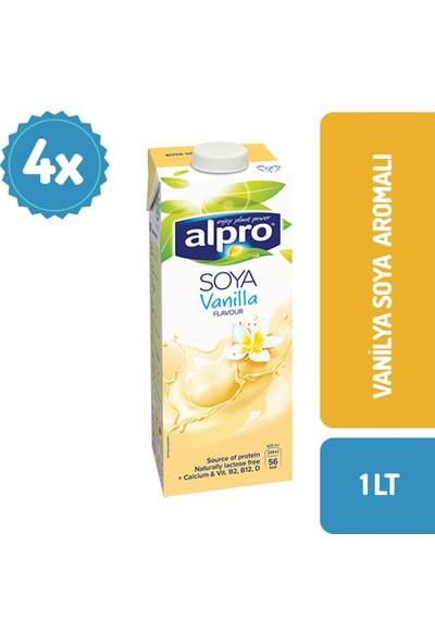 Alpro Vanilyalı Soya Sütü 1 lt x 4 Adet