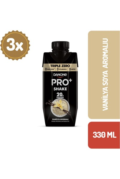 Danone Pro+ Vanilyalı Proteinli Süt 330 ml x 3 Adet