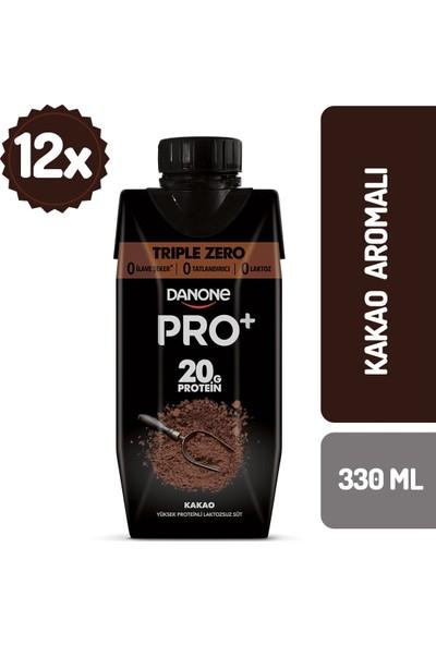 Danone Pro+ Kakaolu Proteinli Süt 330 ml x 12 Adet