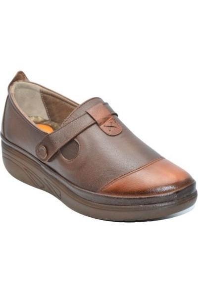 Biolife 1102 Kadın Kahve Anatomik Deri Topuk Dikeni Ayakkabısı