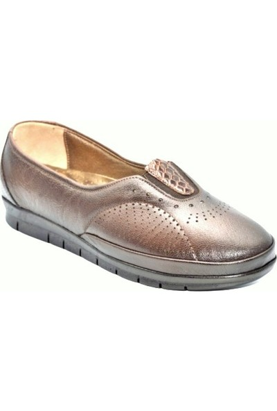 Biolife 89123 Kahve Kadın Anatomik Topuk Dikeni Deri Ayakkabısı