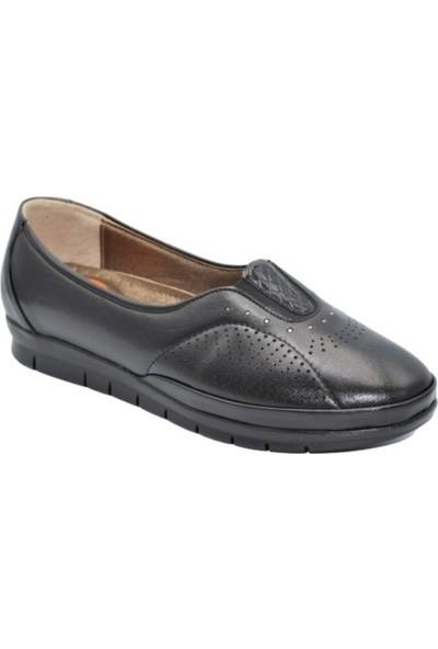 Biolife 89123 Siyah Kadın Anatomik Topuk Dikeni Deri Ayakkabısı