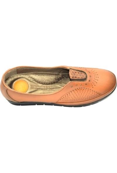 Biolife 89123 Taba Kadın Anatomik Topuk Dikeni Deri Ayakkabısı