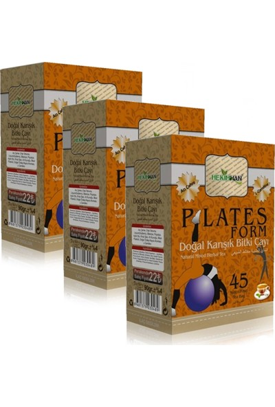 Hekimhan Pilates Plates Form Çayı - 45 Süzen Poşet x 3 Adet