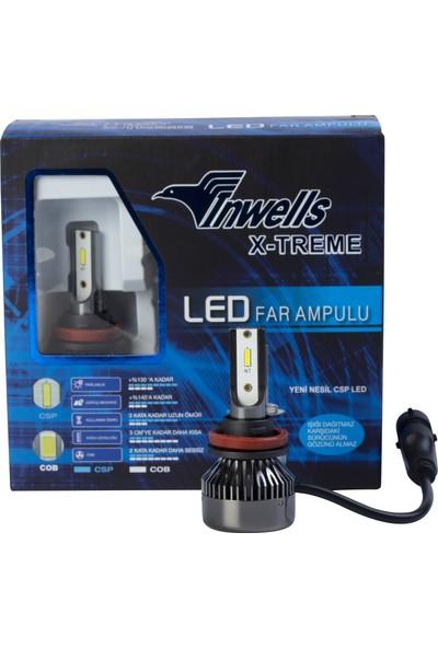 Inwells X-Treme LED Xenon (Zenon) H11 9000 Lümen Beyaz
