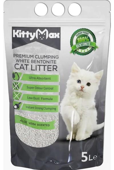 Kittymax Aloe Vera Kokulu Bentonit Kedi Kumu 5 l