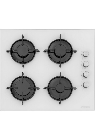 Silverline Beyaz Cam Ankastre Set Bo6504W01 - Cs5349W01 - 3420