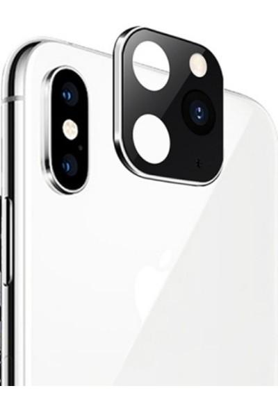 Eretna Apple iPhone 11 Pro Max Lens Dönüştürücü Gümüş