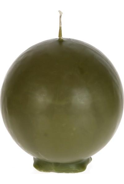 Mum Diyarı Yeşil Top Mum Kokulu 6cm Çap
