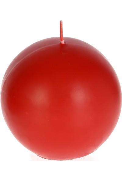 Mum Diyarı Kırmızı Top Mum Kokulu 6cm Çap Kokulu