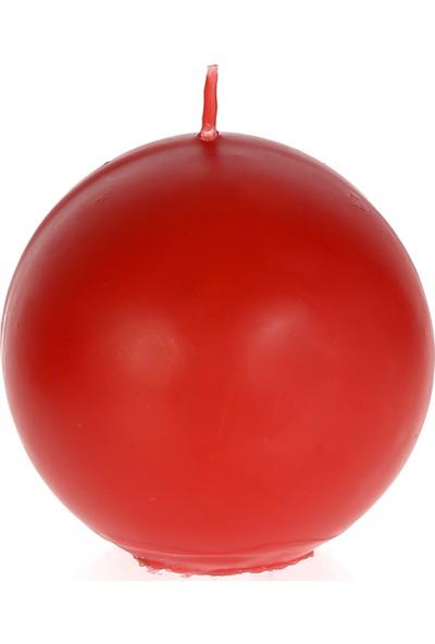Mum Diyarı Kırmızı Top Mum Kokulu 8cm Çap Kokulu