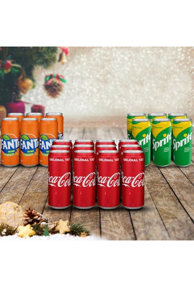 Coca-Cola Muhteşem Üçlü Karma Yılbaşı Paketi