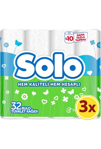 Solo Tuvalet Kağıdı 32X3 96 Rulo