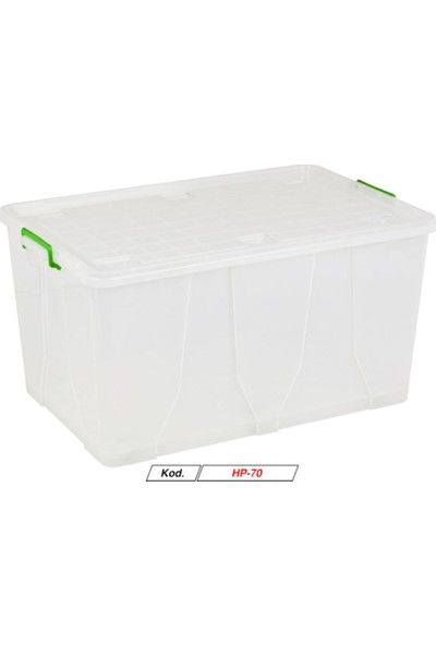 Hipaş Plastik -120 Lt.tekerlekli Kapaklı Saklama Kutusu