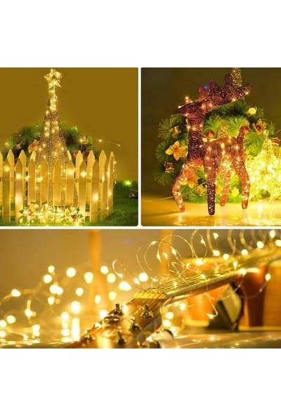 Süme Peri LED Ince Telli Dekoratif Yılbaşı Süs LED Işık 3 m