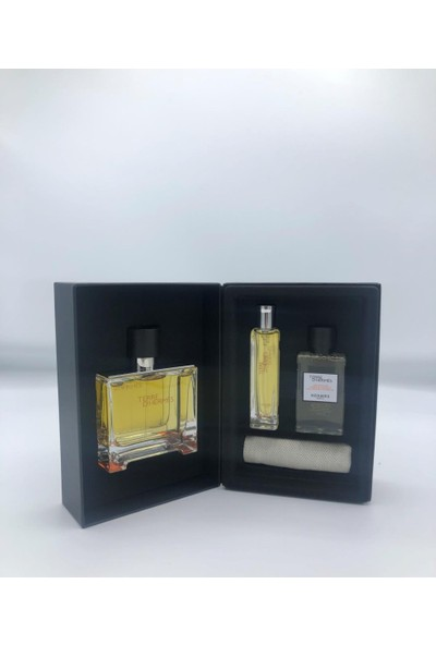 Hermes Terre D'hermes Pure Perfume 75ml +Pp 15ml + Shower Gel 40ml premium