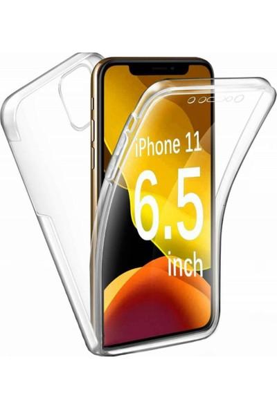 Coverzone Apple iPhone 11 Kılıf - 360 Tam Koruma Silikon Kılıf - Şeffaf