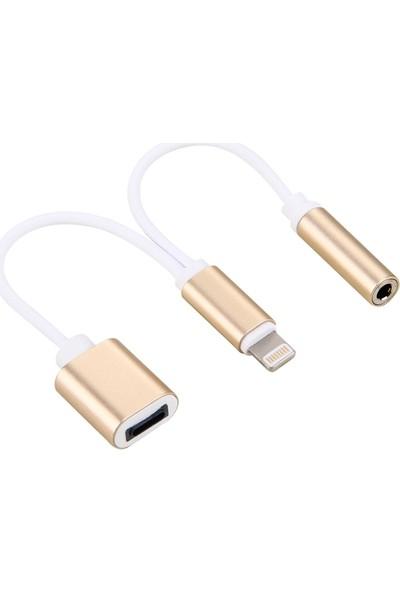 Ssmobil Apple iPhone Lightning 3.5mm Kulaklık ve Şarj Adaptörü SS26082