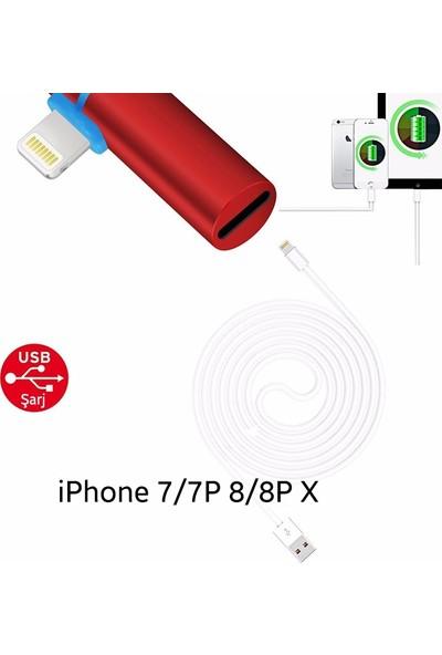 Ssmobil Apple iPhone Lightning 3.5mm Kulaklık ve Şarj Adaptörü SS26085