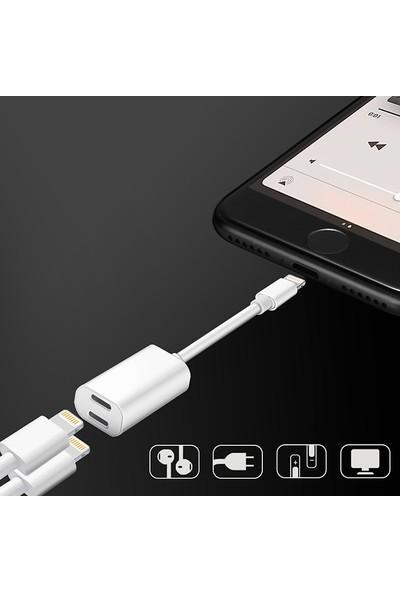 Ssmobil Y Cable Apple iPhone Lightning Kulaklık + Şarj USB Adaptörü SS26112