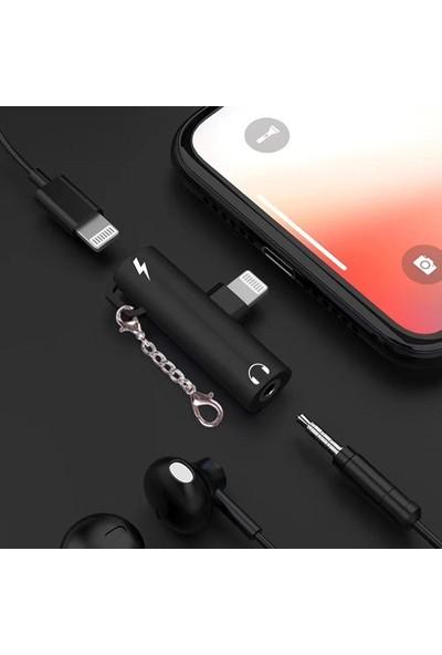 Ssmobil Apple iPhone 3.5mm Kulaklık ve Şarj Dönüştürücü Başlık Adaptör SS30235