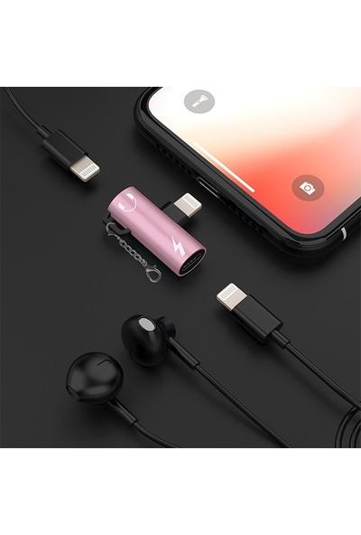 Ssmobil Apple iPhone Dual Lightning Girişli Şarj Dönüştürücü Başlık Adaptör SS30398