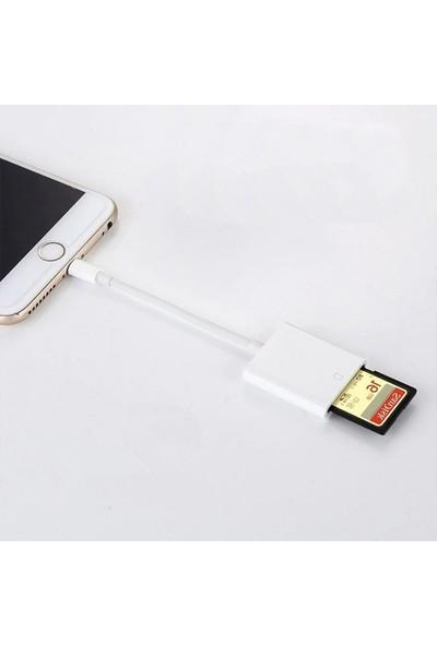 Ssmobil Apple iPhone Lightning To SD Kart Hafıza Kart Adaptörü NK105